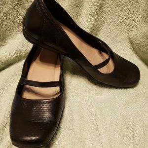 Easy Spirit Black Leather Mart Jane Shoes